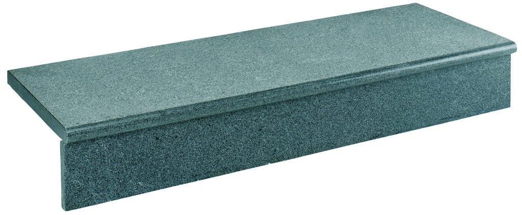 setzstufen diorit tritt und setzstufe sesame dark dunkelgrau 100x35x3 cm holz weiss