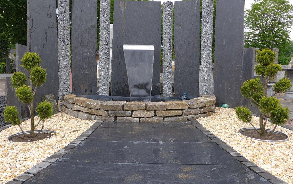 stelen granit stelen metall sichtschutz. Black Bedroom Furniture Sets. Home Design Ideas