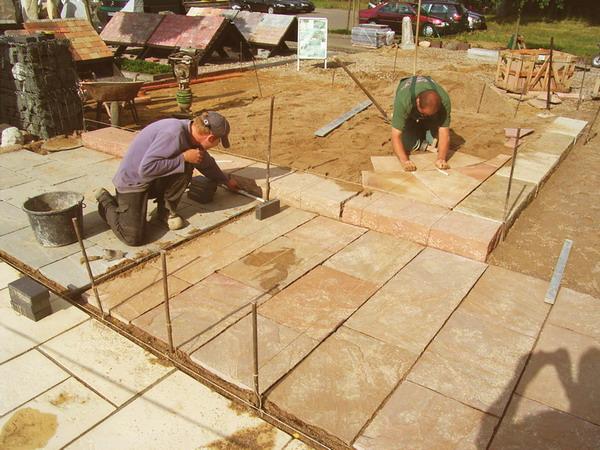 Super Bauzentrum Beckmann: Natursteinplatten verlegen UY09