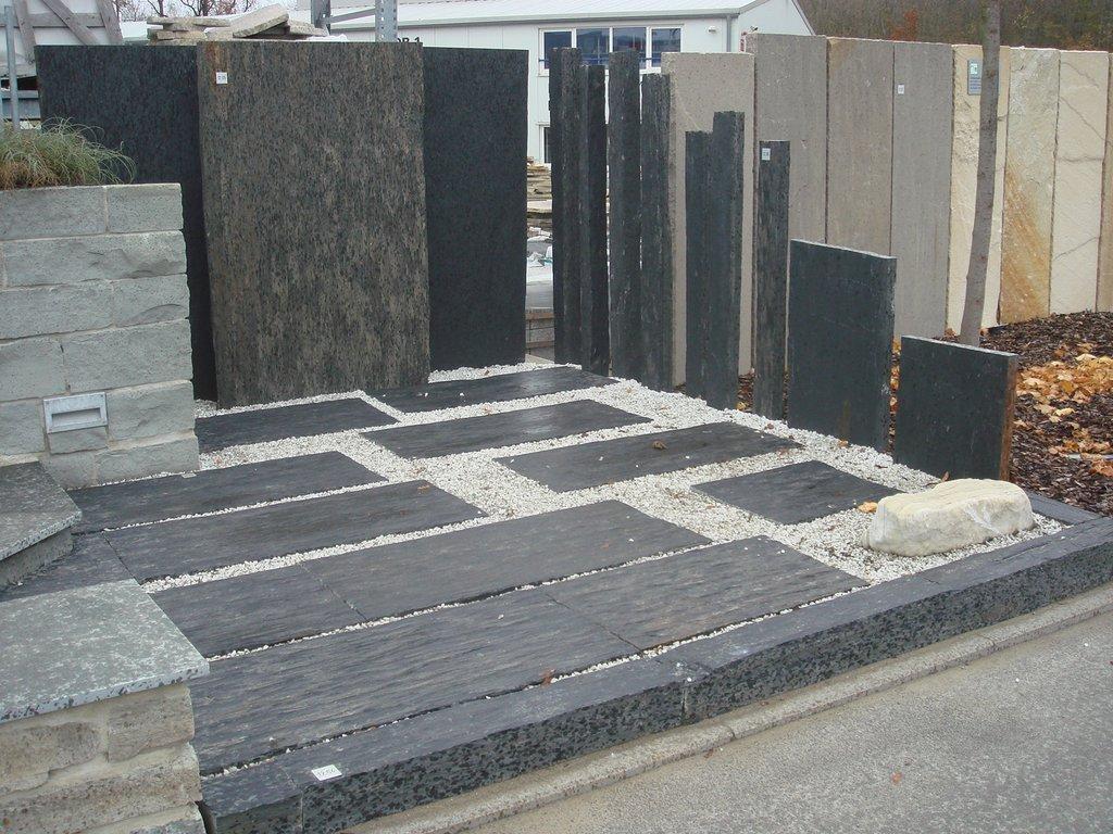 Bauzentrum Beckmann Schiefer Sandstein Sichtschutz Platten