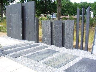 Schieferplatten Garten bauzentrum beckmann: schiefer + sandstein sichtschutz/platten